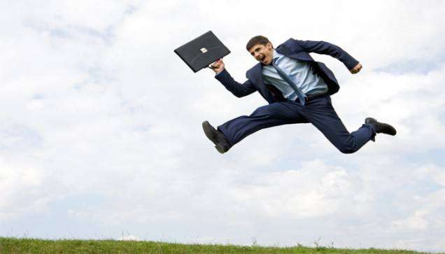 BusinessManLeaping