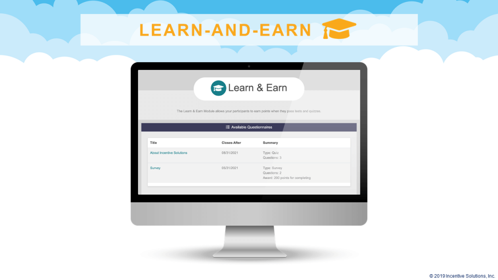 Learn-and-Earn Loyalty Program Software for Education and Trivia