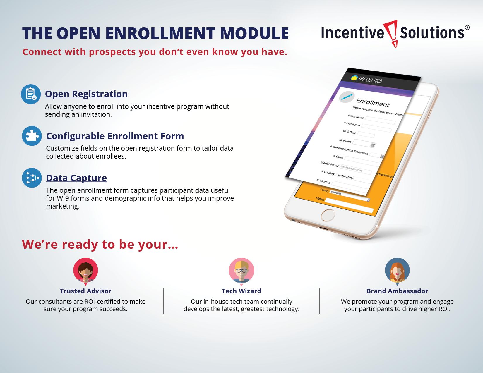 Open Enrollment incentive solutions sales sheet
