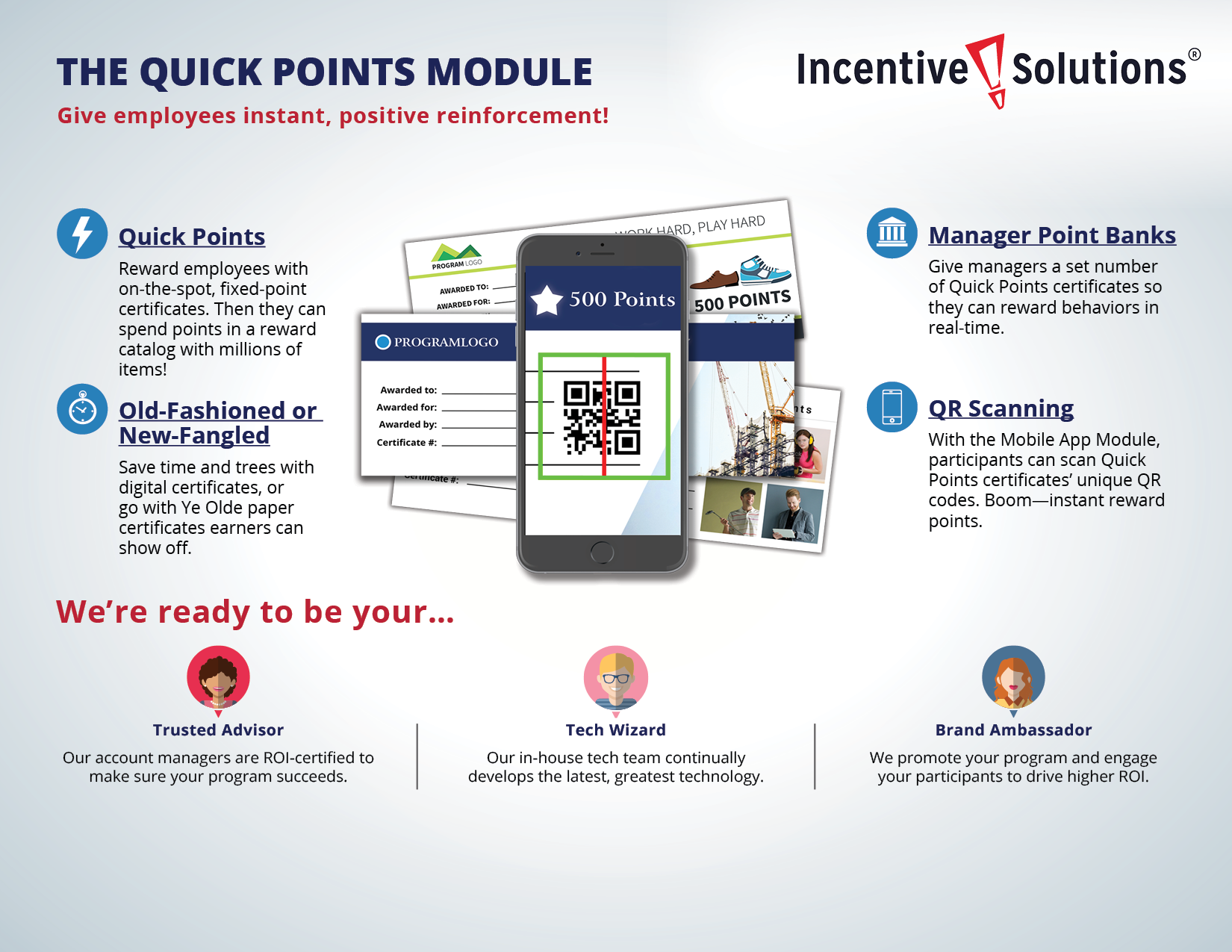 Quick points module incentive solutions sales sheet
