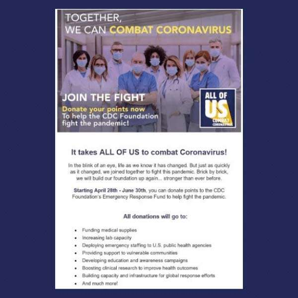 Combat Coronavirus Email
